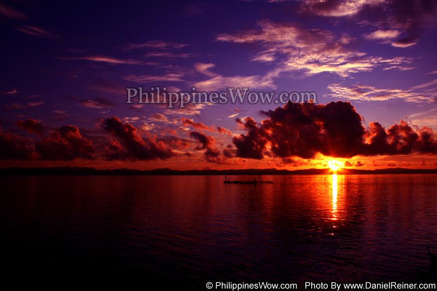 Scenic Sunrise in Bicol Philippines