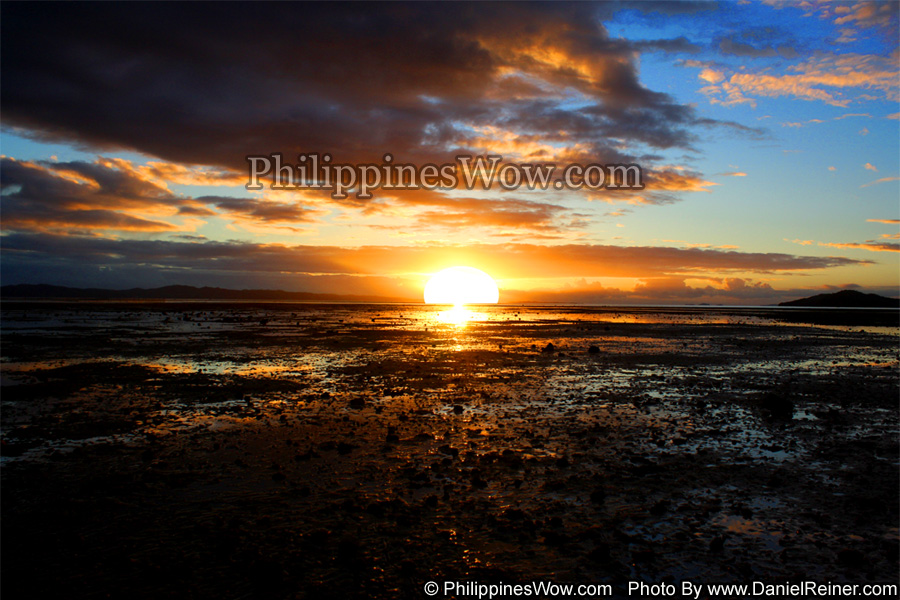 Scenic Philippine Low Tide Sunrise